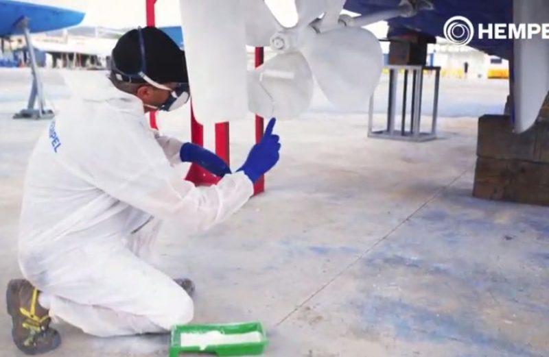 Hempel Silic One propeller kit aanbrengen op schroef